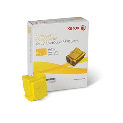 Xerox Solid inks - 6 x yellow - 17300 pages - for 8870
