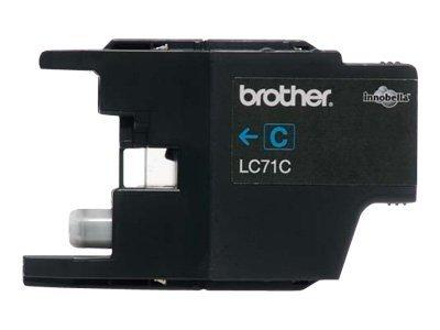 Brother LC71C - Print cartridge - 1 x cyan - 300 p
