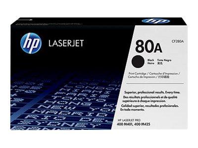 HPc 80A Black Laserjet Toner Cartridge LaserJet M401 & M