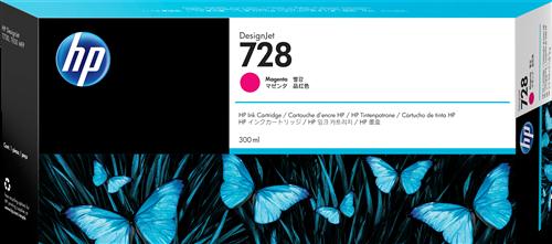 HP 728 300-ml Magenta Black Ink F9K16A