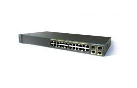 Cisco Catalyst 2960-24TC-S - Conmutador - Capa 4 - Gestionado - 24 puertos - Ethernet, Fast Ethernet - 10Base-T, 100Base-TX 2x10/100/1000Base-T/SFP (mini-GBIC)(señal ascendente) - 1U - montable
