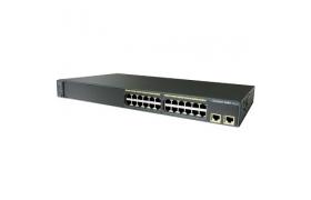 Cisco Catalyst 2960-24TT - Conmutador - Managed - 24 puertos - Ethernet, Fast Ethernet - 10Base-T, 100Base-TX 2x10/100/1000Base-T(señal ascendente) - 1U - montable en bastidor