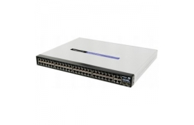 Cisco Small Business 300 Series Managed Switch SF300-48P - Conmutador - Capa 3 - Gestionado - 48 puertos - Ethernet, Fast Ethernet - 10Base-T, 100Base-TX q2x10/100/1000Base-T/SFP (mini-GBIC)(señal as