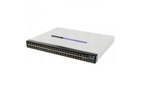 Cisco Small Business 300 Series Managed Switch SF300-48P - Conmutador - Capa 3 - Gestionado - 48 puertos - Ethernet, Fast Ethernet - 10Base-T, 100Base-TX q2x10/100/1000Base-T/SFP (mini-GBIC)(señal as