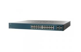 Cisco Small Business Pro ESW-540-24P - Conmutador - Gestionado - 20 x 10/100/1000 4 x Gigabit SFP combinado - montaje en rack - PoE