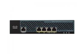Cisco 2504 Wireless Controller - Dispositivo de gestión de la red - 4 puertos - 15 MAPs (managed access points) - Ethernet, Fast Ethernet, Gigabit Ethernet - 1U