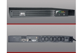 Tripp Lite SmartPro 500RT1U - UPS ( montaje en bastidor ) - CA 220/240 V - 300 vatios - 500 VA - 6 conector/es de salida - 1U - 19