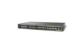 Cisco Catalyst 2960-48TC - Conmutador - 48 puertos - Ethernet, Fast Ethernet - 10Base-T, 100Base-TX 2x10/100/1000Base-T/SFP (mini-GBIC)(señal ascendente) - 1U - montable en bastidor