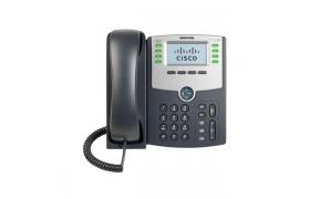 Cisco Small Business SPA 508G - Teléfono VoIP - SIP, SIP v2, SPCP - 8 líneas - plata, gris oscuro