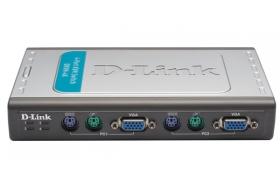 D-Link DKVM 4K - Conmutador KVM - PS/2 - 4 puertos - 1 usuario local externo