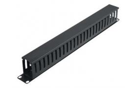TRP Administrador cables horizontal 1U c/lenguetas y tapa