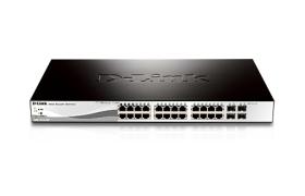 D-Link Web Smart DGS-1210-28P - Conmutador - Gestionado - 24 x 10/100/1000 (PoE) + 4 x Gigabit SFP - sobremesa, montaje en rack - PoE