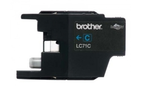 Brother LC71C - Print cartridge - 1 x cyan - 300 p Pack de 5 Unidades