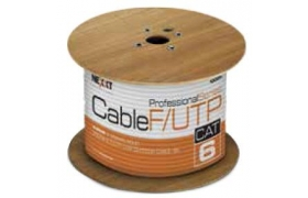 Nexxt F/UTP Cable 4 Pairs Cat6 1000ft Solid LAN CMX Outdoor