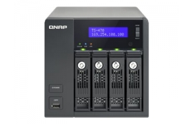 NAS QNAP 4-BAY MESA 2.6GHZ 2GB 2LAN HDMI USB3.0X2 LCD SMB