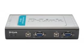 D-Link DKVM 4U - KVM switch - 4 ports USB x2 Cables DKVM-CU