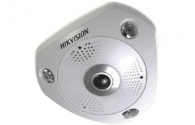 Hikvision Domo IP 3MP IR 10mt Fisheye POE H264 Audio-Alarm