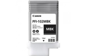 CANON PFI-102 INK MATTE BLACK F/ IPF 500 GRAFICA - 130ML IN