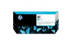HP No 80 Cyan printhead WW Long life smart printhead for use only in HP DesignJet 1050C or