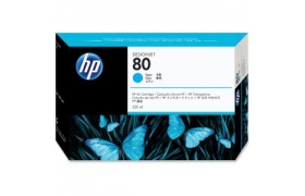 HP No 80 Cyan ink cartridge 350 ml WW Smart ink cartridge for use only in HP DesignJet 1050C or