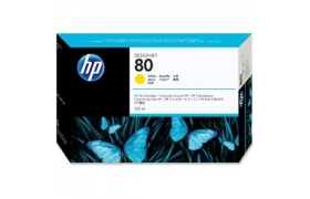 HP No 80 Yellow ink cartridge 350 ml WW Smart ink cartridge for use only in HP DesignJet 1050C or