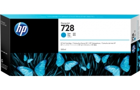 HP 728 300-ml Cyan Ink F9K17A