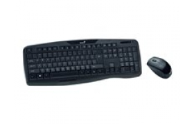 Genius Kit KB-8000X Wireless USB tecado y mouse color Negro