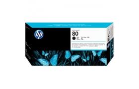 Limpiador de cabezales de impresión y cabezal de impresión DesignJet HP 80 negro para HP DesignJet 1050C